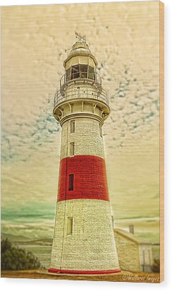 Low Head Lighthouse Wood Print by Wallaroo Images