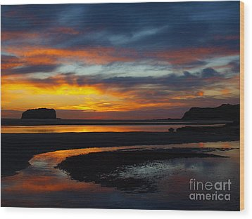 Wood Print featuring the photograph Low Tide At Sunrise by Trena Mara