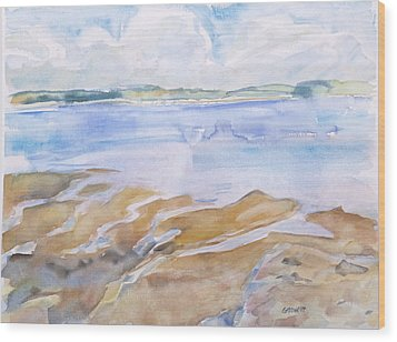 Low Tide - Penobscot Bay Wood Print