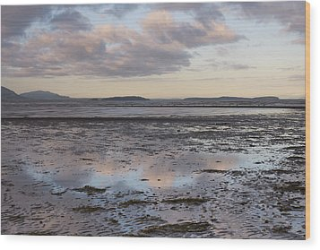 Low Tide Reflections Wood Print by Priya Ghose