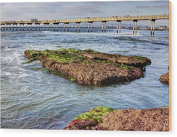 Wood Print featuring the digital art Low Tide by Photographic Art by Russel Ray Photos