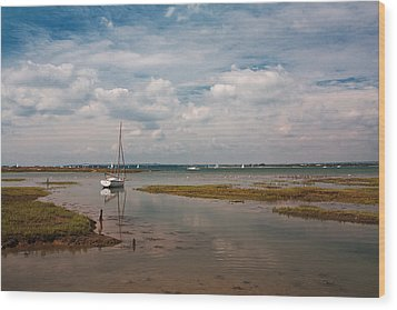 Low Tide Wood Print by Shirley Mitchell