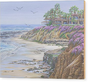 Low Tide Solana Beach Wood Print