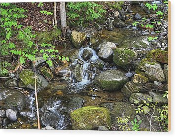 Lowell Mountain Stream Wood Print