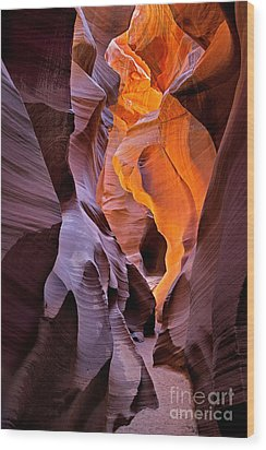 Lower Antelope Glow Wood Print by Jerry Fornarotto