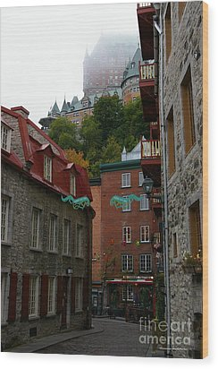 Lower City Quebec Wood Print by Tannis  Baldwin