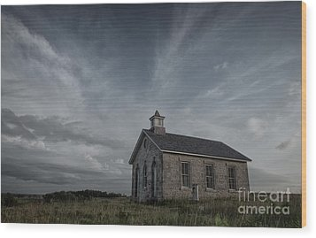 Wood Print featuring the photograph Lower Fox Creek School  by Keith Kapple