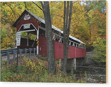 Wood Print featuring the photograph Lower Humbert Covered Bridge by Dan Myers