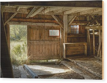 Lower Level Of The Barn Wood Print