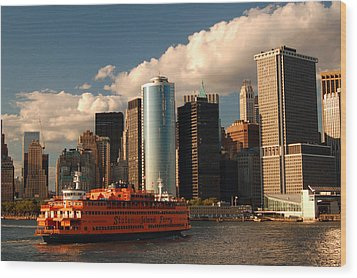 Wood Print featuring the photograph Lower Manhattan  by James Kirkikis
