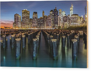 Wood Print featuring the photograph Lower Manhattan by Mihai Andritoiu