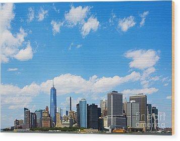 Lower Manhattan New York City Wood Print by Diane Diederich