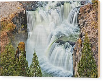 Lower Mesa Falls Wood Print by Joan Herwig