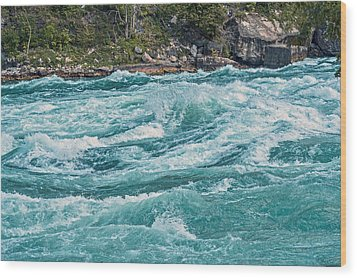 Lower Niagara River Ontario Canada Wood Print by Marek Poplawski