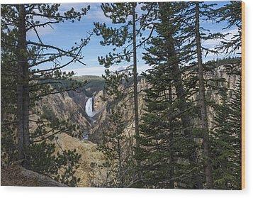 Lower Yellowstone Canyon Falls - Yellowstone National Park Wyoming Wood Print by Brian Harig