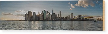Wood Print featuring the photograph Lowerr Manhattan Panoramic by Chris McKenna
