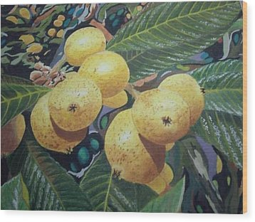 Lowquats 2 Wood Print by Hilda and Jose Garrancho