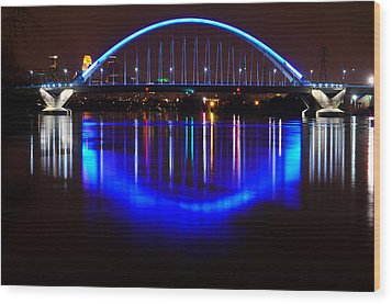 Wood Print featuring the photograph Lowry Bridge by RC Pics