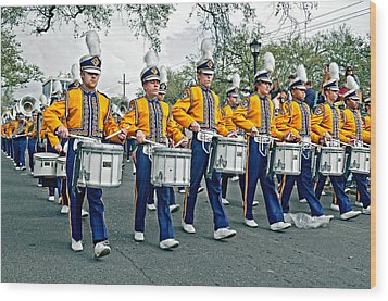 Lsu Marching Band Wood Print by Steve Harrington