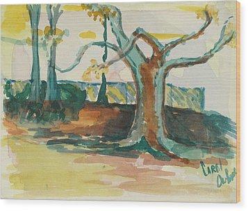 Lsu Oaks Cypress Knees Wood Print