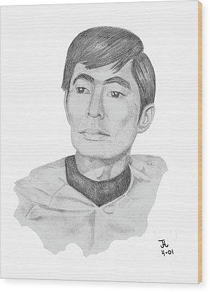 Lt. Sulu Wood Print