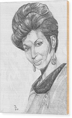 Lt. Uhura Wood Print