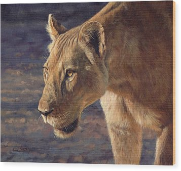 Luangwa Princess  Wood Print by David Stribbling