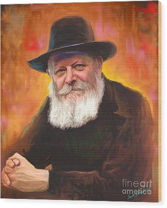 Lubavitcher Rebbe Wood Print by Sam Shacked