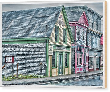 Lubec Maine Wood Print