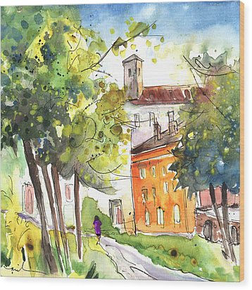 Lucca In Italy 02 Wood Print by Miki De Goodaboom