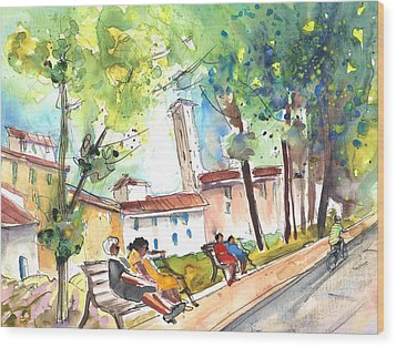 Lucca In Italy 03 Wood Print by Miki De Goodaboom