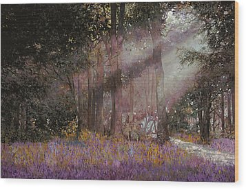 Luci Wood Print by Guido Borelli