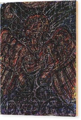 Lucifer Defies God Wood Print by Rachel Scott