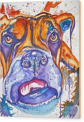 Lucille Boxer Blues  Wood Print