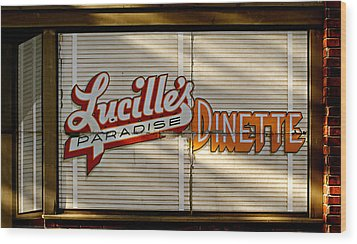 Lucille's Dinette Wood Print by Bud Simpson