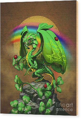 Luck Dragon Wood Print by Stanley Morrison