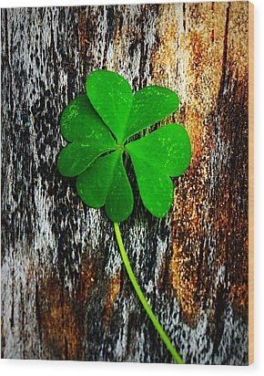 Luck Wood Print