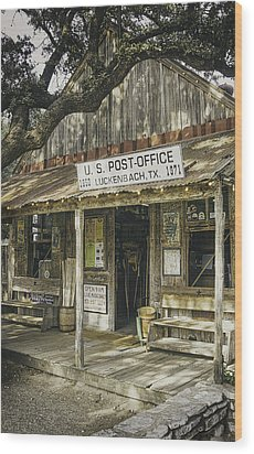 Luckenbach Wood Print by Scott Norris