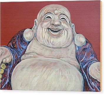 Lucky Buddha Wood Print by Tom Roderick