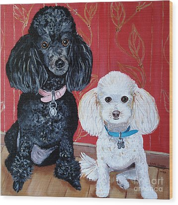Lucy And Leopold Wood Print by Linda Queally