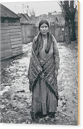 Wood Print featuring the photograph Lucy From The Yakama Tribe 1912 by Mary Mires