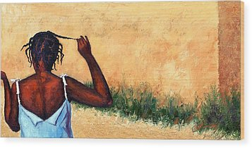 Lucie In Haiti Wood Print by Janet King