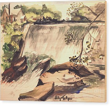 Ludington Michigan Spillway Wood Print