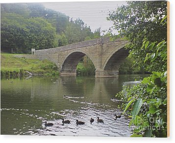 Wood Print featuring the photograph Ludlow Bridge by John Williams