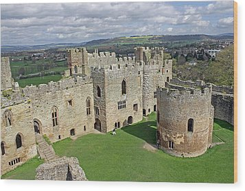 Ludlow Castle Chapel And Great Hall Wood Print by Tony Murtagh