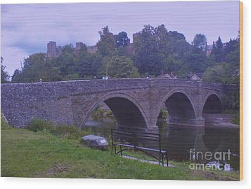Wood Print featuring the photograph Ludlow Castle by John Williams