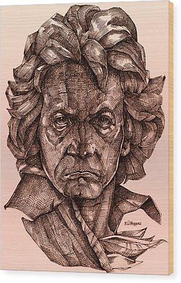 Ludwig Van Beethoven Wood Print by Derrick Higgins