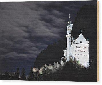 Ludwig's Castle At Night Wood Print by Matt MacMillan