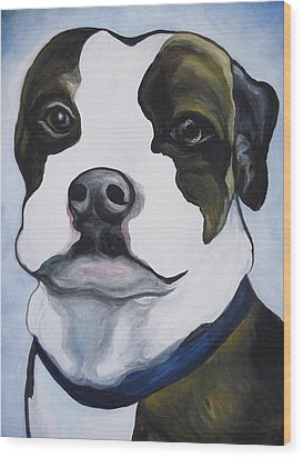 Lugnut Portrait Wood Print by Leslie Manley
