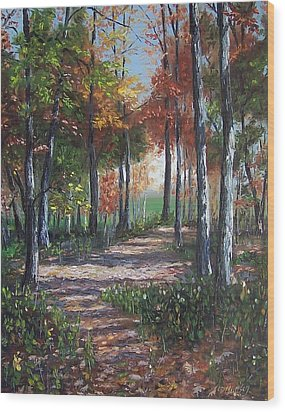 Lullabye Forest Wood Print by Donna Munsch